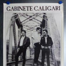 Música de colección: POSTER GABINETE CALIGARI, COCA COLA, LOS 40 PRINCIPALES - AÑO 1989. Lote 162839006