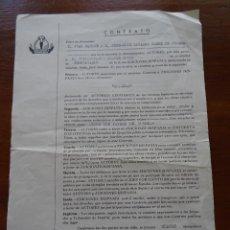 Música de colección: CONTRATO DE EDICIÓN, JUAN MARINÉ BARRANCO, JOSÉ LUIS NAVARRO SAENZ DE JUBERA, 1965. Lote 163603774