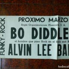 Musica di collezione: POSTER CONCIERTO BARCELONA BO DIDDLEY + ALVIN LEE BAND. Lote 164099290
