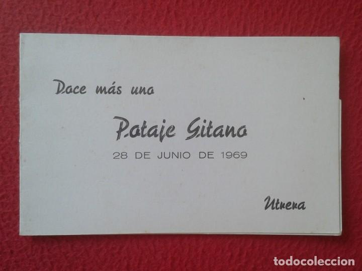 DÍPTICO POTAGE GITANO 1969 UTRERA HOMENAJE A MANUEL MAIRENA FLAMENCO FERNANDA Y BERNARDA COCA COLA.. (Música - Varios)