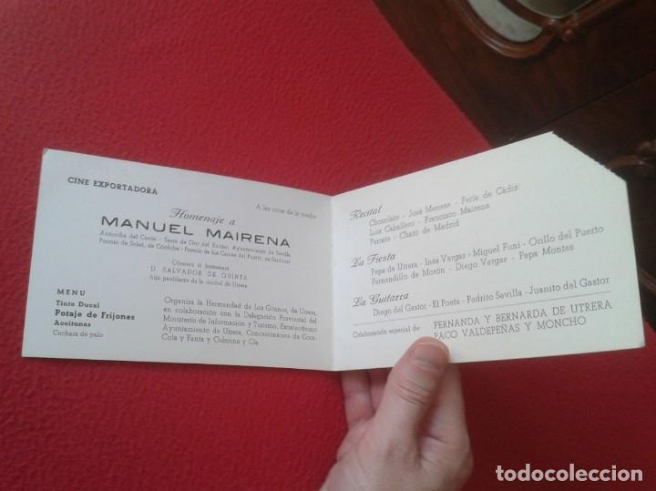 Música de colección: DÍPTICO POTAGE GITANO 1969 UTRERA HOMENAJE A MANUEL MAIRENA FLAMENCO FERNANDA Y BERNARDA COCA COLA.. - Foto 3 - 164959146
