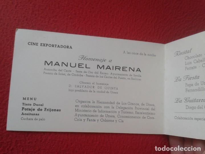 Música de colección: DÍPTICO POTAGE GITANO 1969 UTRERA HOMENAJE A MANUEL MAIRENA FLAMENCO FERNANDA Y BERNARDA COCA COLA.. - Foto 4 - 164959146