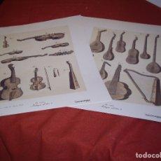 Música de colección: INSTRUMENTOS MUSICALES - 2 LAMINAS. Lote 165247134