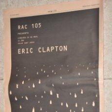 Música de colección: HOJA PUBLICIDAD DEL DIARIO LA VANGUARDIA 2004, ERIC CLAPTON. Lote 165482358