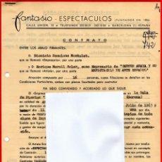 Música de colección: CONTRATO ACTUACION ORIGINAL CARMEN AMAYA BAILADORA GITANA,AÑO1963,FIRMADO.BAILE FLAMENCO.AÑO MUERTE. Lote 165786226