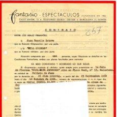 Música de colección: 2 CONTRATO ACTUACION ORIGINAL TROMPETISTA DE JAZZ, BILL COLEMAN,MITICOS CONCIERTOS DE 1964,BARCELONA. Lote 165839398