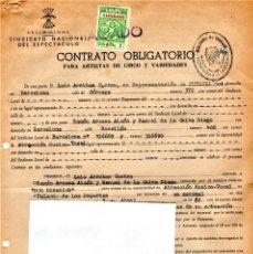 Música de colección: DUO DINAMICO,CONTRATO DE ACTUACION AÑO 1962,FIRMADO,DEL PALACIO DE DEPORTES DE BARCELONA,MUSICA POP. Lote 165839934
