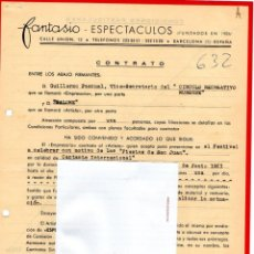 Música de colección: CONTRATO ACTUACION ORIGINAL DE LA CANTANTE SALOME,AÑO 1963,GANADORA DEL FESTIVAL DE EUROVISION 1969. Lote 165877762