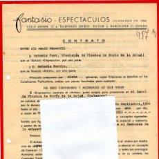 Música de colección: CONTRATO DE ACTUACION ORIGINAL DE ANTONIO MACHIN,CANTANTE DE BOLEROS CUBANO,AÑO 1964,EN BALEARES. Lote 165880346