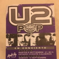 Música de colección: FLYER U2 GIRA POP CONCIERTOS MADRID Y BARCELONA 1997. Lote 165897122
