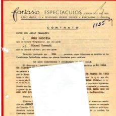 Música de colección: CONTRATO ACTUACION ORIGINAL DEL CANTANTE ITALIANO GIANNI MORANDI,AÑO 1965,FIRMA CASA DISCOS RCA. Lote 165953410