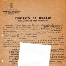 Música de colección: CONTRATO ACTUACION ORIGINAL DEL CANTANTE LUIS AGUILE,AÑO 1973,BARCELONA,AUTOR-CUANDO SALI DE CUBA-. Lote 165957518