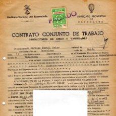 Música de colección: CONTRATO ACTUACION ORIGINAL DEL BAILARIN FLAMENCO ANTONIO GADES,AÑO 1963,ACTUACION EN BUQUE MILITAR. Lote 166118566