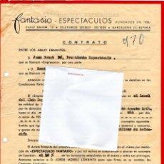 Música de colección: CONTRATO ACTUACION ORIGINAL DEL CANTANTE ITALIANO ENNIO SANGIUSTO,AÑO 1964,FIRMADO, TWIST-POP. Lote 166123638