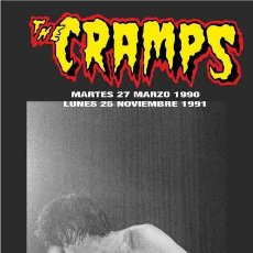 Música de colección: THE CRAMPS LONA BANNER ROLL UP PVC ORIGINAL LIMTED EDITION CONCIERTOS ARENA VALENCIA SPAIN 1990 1991. Lote 166310278