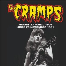 Música de colección: THE CRAMPS LONA BANNER ROLL UP PVC ORIGINAL LIMITED EDITION CONCIERTOS ARENA VALENCIA SPAIN 90 91. Lote 166310490