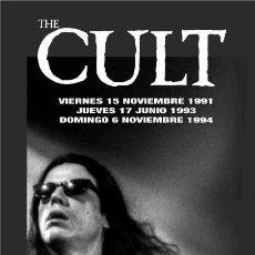 Música de colección: THE CULT LONA BANNER ROLL UP PVC ORIGINAL LIMITED EDITION CONCIERTOS VALENCIA SPAIN 1991 1993 1995. Lote 209289502