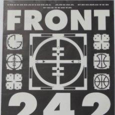 Música de coleção: FRONT 242 CARTEL POSTER ORIGINAL PROMO CONCIERTO VALENCIA 1991 ESPAÑA SPAIN NMINT. Lote 220110801