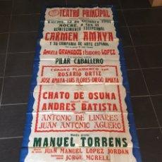 Música de colección: CARMEN AMAYA - ESPECTACULAR CARTEL GRAN FORMATO - TEATRO PRINCIPAL - ZARAGOZA - 1961 - 228 X 82 CM. Lote 166787026