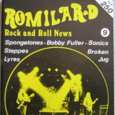 Musique de collection: ROMILAR-D, ROCK AND ROLL NEWS (FANZINE DE ROCK), NÚMERO 9. ORIGINAL DE 1988. Lote 166946476