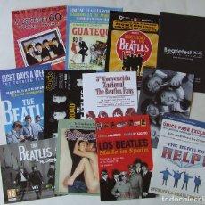 Música de colección: LOTE 12 FLYERS DIVERSOS EVENTOS BEATLES. Lote 167124540