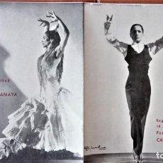Música de colección: PROGRAMA FESTIVAL BAILADORA GITANA CARMEN AMAYA 1963 - FUE SU ULTIMO BAILE - BEGUR 1963 - FLAMENCO. Lote 167486520