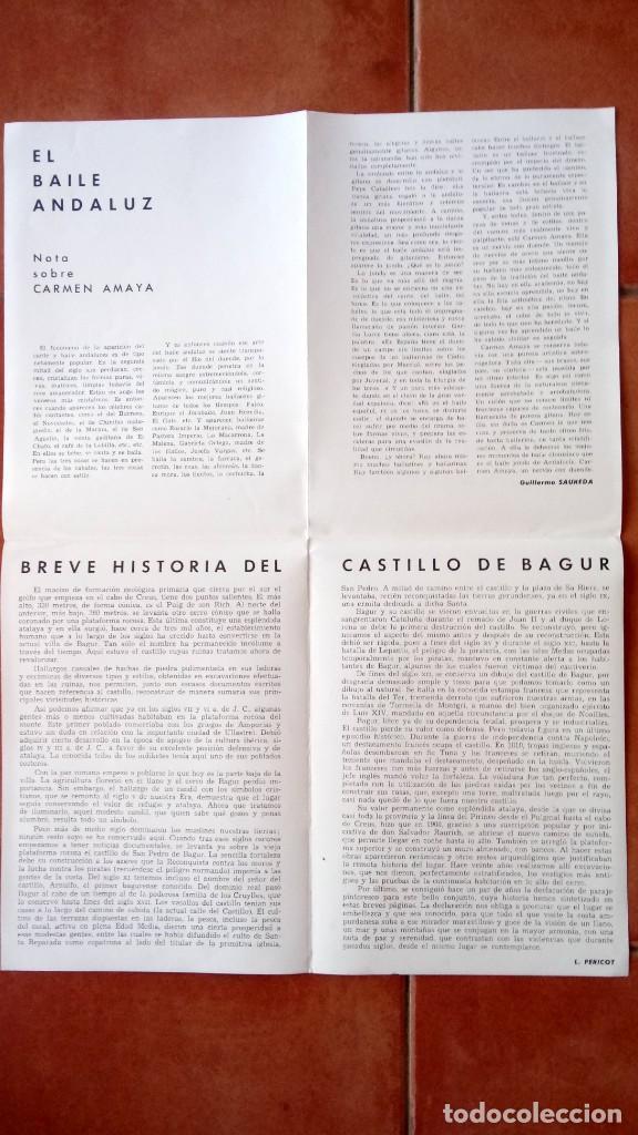 Música de colección: PROGRAMA FESTIVAL BAILADORA GITANA CARMEN AMAYA 1963 - FUE SU ULTIMO BAILE - BEGUR 1963 - FLAMENCO - Foto 3 - 167486520