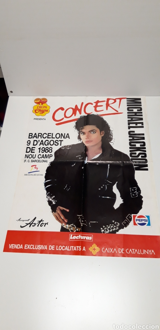 ANTIGUO PÓSTER CONCERT MICHAEL JACKSON 1988 (Música - Varios)