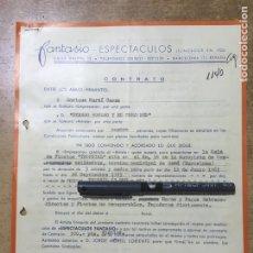 Música de colección: CONTRATO FIRMADO POR CANTANTE DYANGO - JOSE GOMEZ ROMERO - 1965 - CONTRATO DE 3 MESES Y MEDIO. Lote 167836085