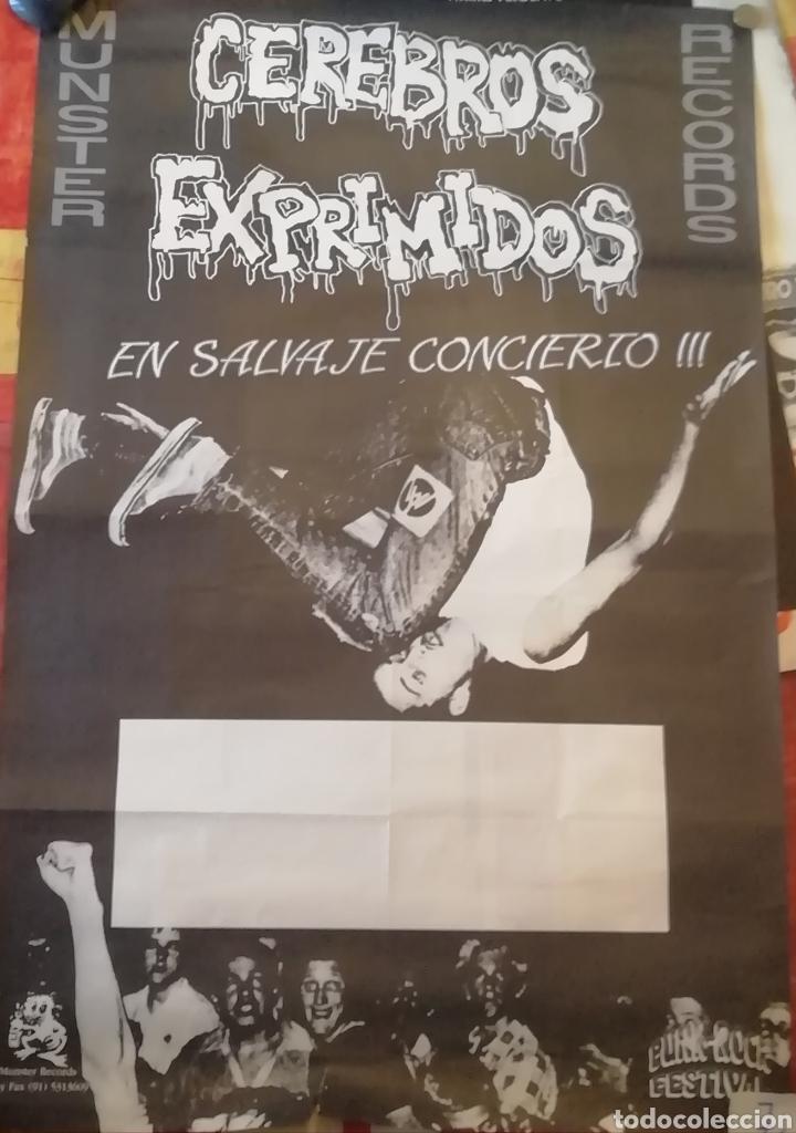 CEREBROS EXPRIMIDOS, CARTEL GENERICO PARA CONCIERTOS (Música - Varios)