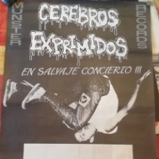 Música de coleção: CEREBROS EXPRIMIDOS, CARTEL GENERICO PARA CONCIERTOS. Lote 168267608