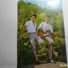 Música de colección: POSTAL PUBLICIDAD LA VOZ DE SU AMO -DUO DINAMICO DORSO DEDICATORIA CON SELLO TAMPON¡¡. Lote 168268740