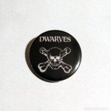 Música de colección: DWARVES - LOGO CHAPA 31MM (CON IMPERDIBLE) - PUNK ROCK. Lote 151391914