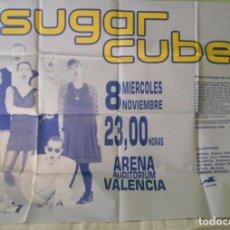 Música de colección: BJORK THE SUGARCUBES ORIGINAL PROMO CONCERT POSTER CARTEL CONCIERTO ARENA VALENCIA 1989 SPAIN. Lote 169822108