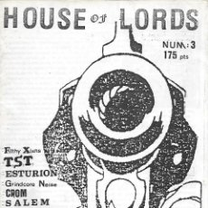Musique de collection: HOUSE OF LORDS NÚMERO 3 - FANZINE DE HEAVY METAL / THRASH METAL. ORIGINAL DE 1989. Lote 209561952