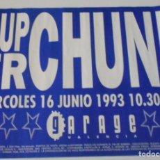 Música de colección: SUPERCHUNK CARTEL POSTER CONCIERTO PROMO ORIGINAL GARAGE ARENA VALENCIA SPAIN 1993. Lote 170411048