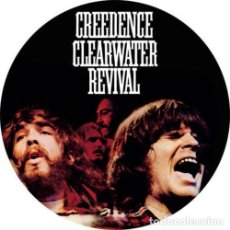 Música de coleção: CHAPA/BADGE CREEDENCE CLEARWATER REVIVAL . PIN BUTTON JOHN FOGERTY DALE HAWKINS. Lote 171130915