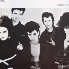 Música de colección: ARTICULO/RECORTE 1985 - EL ROCK EN ESPAÑA OLVIDO GARA ALASKA ORQUESTA MONDRAGON MIGUEL RIOS BOSE. Lote 171486465
