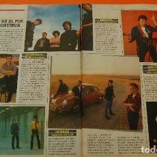 Música de colección: ARTICULO - 1986 - NACHA POP GABINETE GALIGARI LOS REBELDES RADIO FUTURA AVIADOR DRO - 4 PAGINAS. Lote 171486850