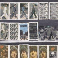 Música de colección: BEATLES,LOTE DE 20 CROMOS +TARJETA TELEFONICA ( UK ) EDICION LIMITADA. Lote 172042869