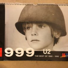 Música de colección: U2, THE BEST OF 1980 - 1990. CALENDARIO DE 1999 PROMOCIONAL DE M80 RADIO. 30 X 42 CMS.. Lote 172090328