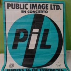 Música de coleção: PIL SEX PISTOLS CARTEL POSTER ORIGINAL100X140 CONCIERTO PACHA AUDITORIUM VALENCIA 1986 ESPAÑA SPAIN. Lote 172292007