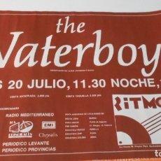 Música de colección: THE WATERBOYS CARTEL POSTER CONCIERTO ORIGINAL ARENA AUDITORIUM VALENCIA SPAIN 1989. Lote 172394612