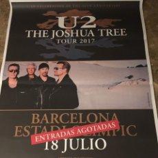 Música de colección: U2 POSTER PROMOCIONAL ORIGINAL CONCIERTO JOSHUA TREE EN BARCELONA. GIGANTE 1,40X1M. Lote 172488922