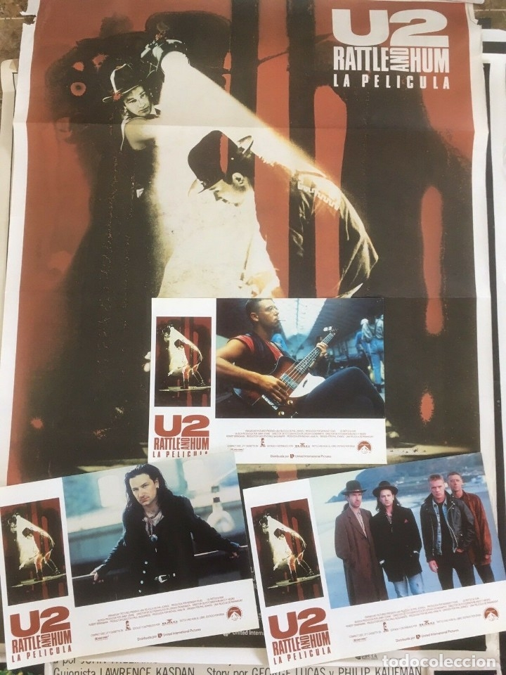 U2 RATTLE AND HUM LOTE COLECCIONISTA: POSTER ORIGINAL, LOBBY CARDS (Música - Varios)