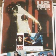 Música de colección: U2 RATTLE AND HUM LOTE COLECCIONISTA: POSTER ORIGINAL, LOBBY CARDS . Lote 172496243