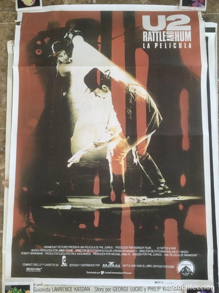 Música de colección: U2 Rattle and Hum Lote coleccionista: Poster original, lobby cards - Foto 2 - 172496243