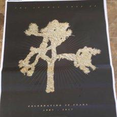Música de colección: U2 POSTER ORIGINAL PROMOCIONAL PARA LANZAR EL JOSHUA TREE. EXCLUSIVO. GIGANTE1,40X1M. Lote 172509278