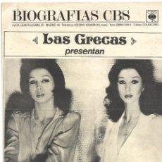 Música de colección: LAS GRECAS, ANABELINA, ES UN RELATO BIOGRÁFICO DE CUANDO FUERON A LONDRES A GRABAR- VER. Lote 172909304