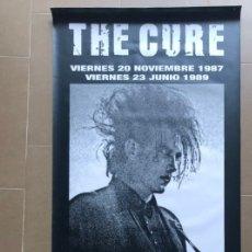 Música de colección: THE CURE LONA BANNER ROLL UP PVC ORIGINAL LIMITED EDITION CONCIERTOS VALENCIA ESPAÑA SPAIN 1987 1989. Lote 166382158